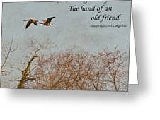 The Hand Of Friendship Greeting Card