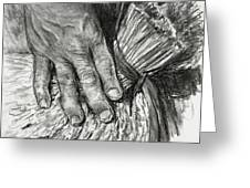 The Hand That Feeds Us Greeting Card