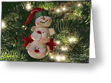 The Happy Snowman Greeting Card