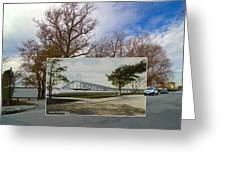 The Harbor At Ft. Greene In Newport Ri Greeting Card