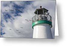 The Harbor Lighthouse Greeting Card