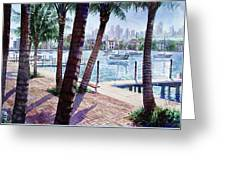 The Harbor Palms Greeting Card