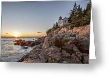 The Harbor Sunset Greeting Card