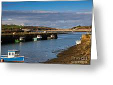 The Harbour At Hayle Cornwall Greeting Card