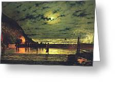 The Harbour Flare Greeting Card