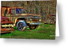The Hard Headed Ford Work Horses. Greeting Card