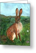 The Hare Greeting Card