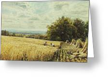The Harvesters Greeting Card by Edmund George Warren