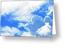 The Head In The Clouds Greeting Card