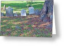 The Headstones Of Slaves Greeting Card