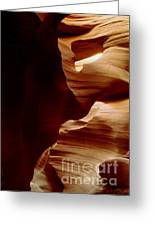 The Heart Of Antelope Canyon Greeting Card