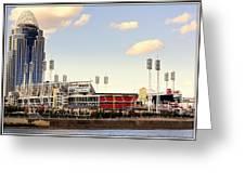 The Heart Of Cincinnati  Greeting Card