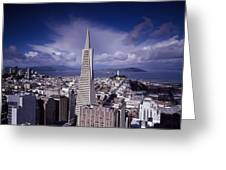 The Heart Of San Francisco Greeting Card by Mountain Dreams