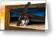 The Heaviest Cross To Bear Greeting Card
