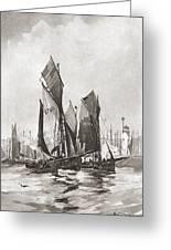 The Herring Fleet, Scarborough Greeting Card