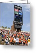 The Hill At Scott Stadium Uva Greeting Card