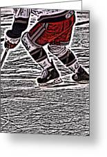 The Hockey Player Greeting Card by Karol Livote