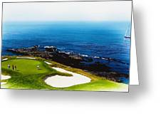 The Hole 7 At Pebble Beach Golf Links Greeting Card
