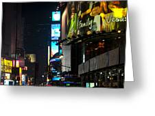 The Holidays In Time Square Greeting Card