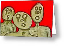 The Hollow Men 88 - Three Walkers Greeting Card