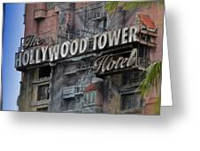 The Hollywood Hotel Signage Greeting Card