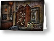The Hollywood Roosevelt Hotel Reception Desk - Haunted Greeting Card by Lee Dos Santos
