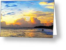 The Honeymoon - Sunset Art By Sharon Cummings Greeting Card