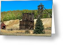 The Hoosier Mine Greeting Card