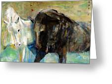 The Horse As Art Greeting Card