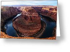 The Horseshoe River At Ultra High Resolution Greeting Card