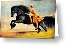The Horsewoman Greeting Card