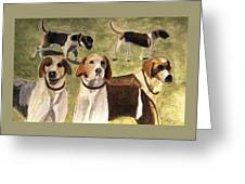 The Hounds Greeting Card