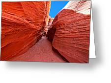 The Hourglass - Half Past Three - Southwest Slot Canyon Greeting Card
