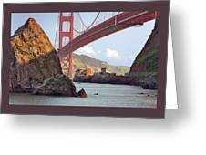 The House Below The Golden Gate Bridge Greeting Card