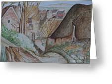 The House Of The Hanged Man After Cezanne Greeting Card