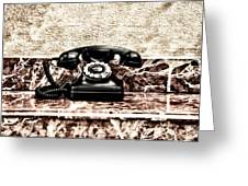 The House Phone Greeting Card