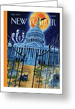 The House Republicans Haunt The Captiol Building Greeting Card