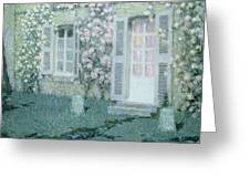 The House With Roses Greeting Card