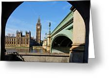 The Houses Of Parliament In London Greeting Card