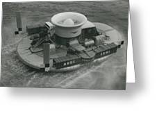 The �hovercraft� Shows Of Its Paces On The Thames Greeting Card
