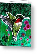 The Hummingbird Greeting Card by Genevieve Esson