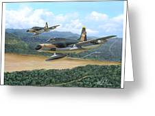 The Hun - F-100 Super Sabres In Vietnam Greeting Card
