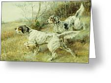 The Hunt Greeting Card by Edmund Henry Osthaus