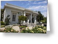 The Huntington Library Rose Garden Tea House Greeting Card