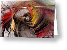 The Huntress-abstract Art Greeting Card
