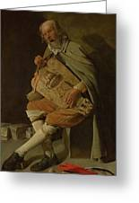 The Hurdy Gurdy Player Greeting Card