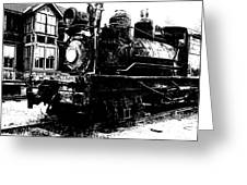 The Hurricane Express Homage 1932 19th Century Locomotive Ghost Town Nevada City Montana Greeting Card