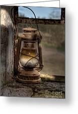 The Hurricane Lamp Greeting Card