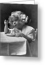 The Ice Cream Girl Greeting Card