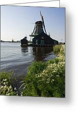 The Iconic Windmills Of  Holland  Greeting Card